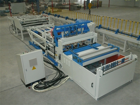 Cage mesh production line