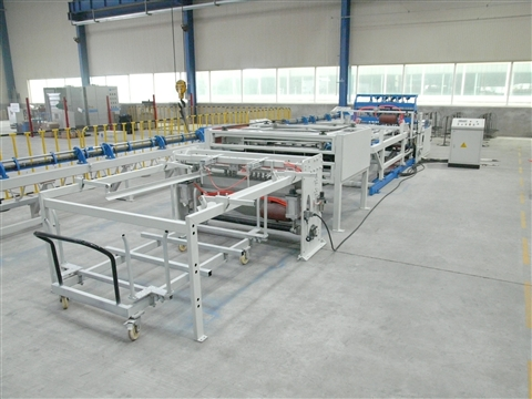 Cage welded mesh production line