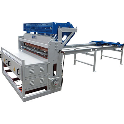 China steel fence welded wire mesh machine