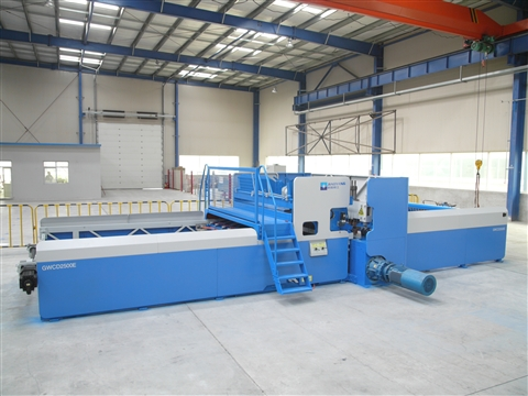 Automatic concrete wire mesh welding machine operation