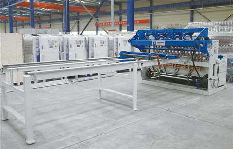 Wire fence mesh welding production line