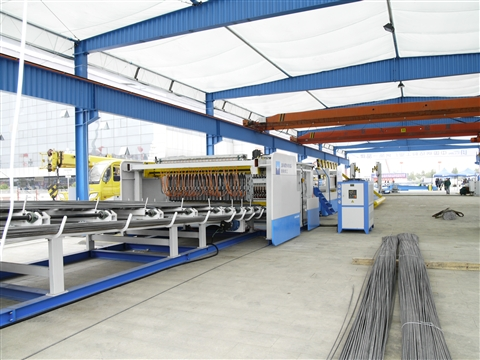 Steel wire mesh welding production line